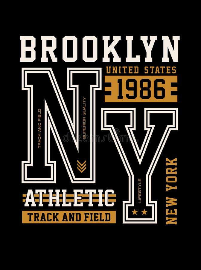 Diseño de la tipografía de Brooklyn, imagen del vector libre illustration