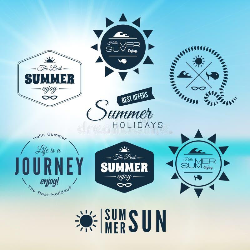 Diseño de la tipografía de las vacaciones de verano del vintage stock de ilustración