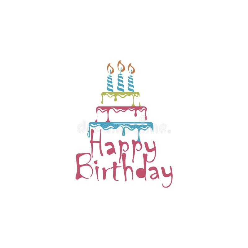 Diseño de la torta de cumpleaños libre illustration