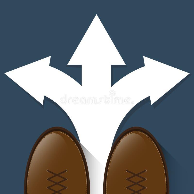 Diseño de la trayectoria de la decisión stock de ilustración