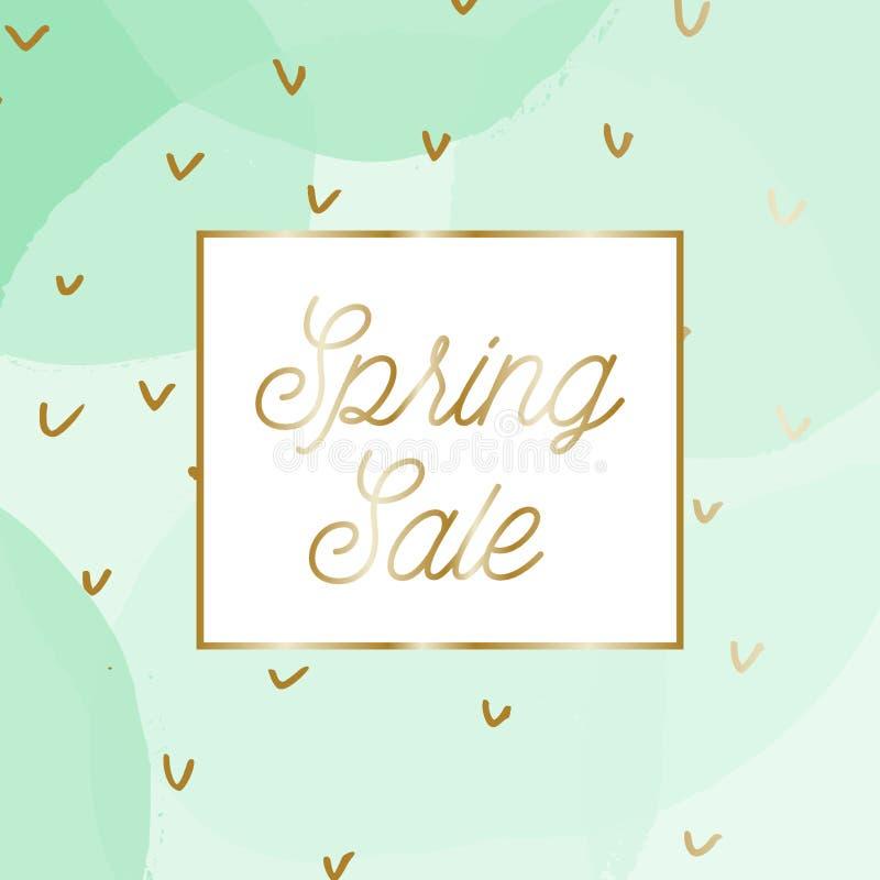 Diseño de la venta de la primavera ilustración del vector