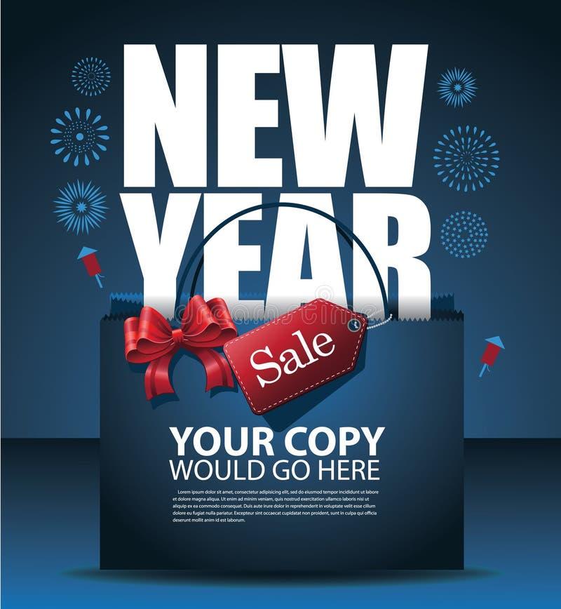 Diseño de la venta del Año Nuevo stock de ilustración