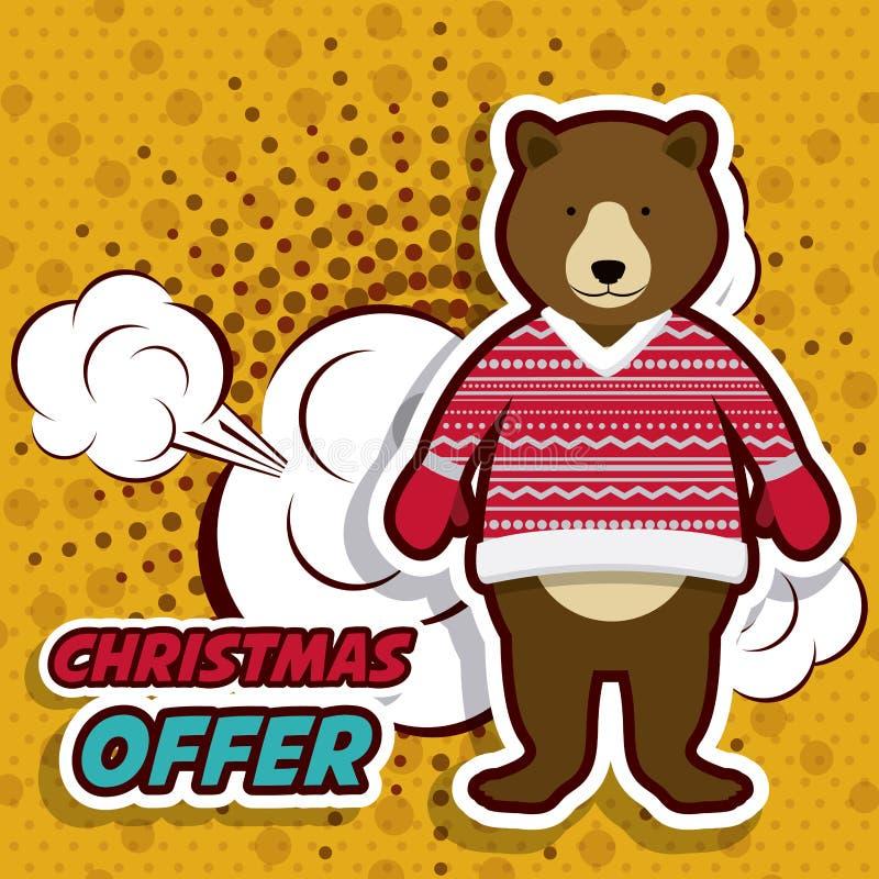 Diseño de la venta de la Navidad ilustración del vector
