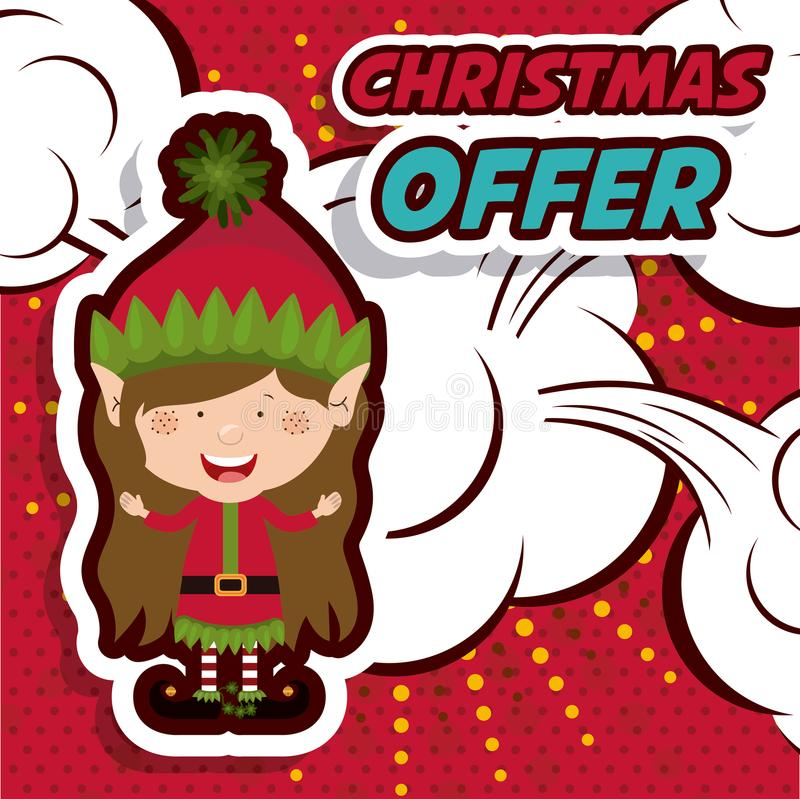 Diseño de la venta de la Navidad stock de ilustración