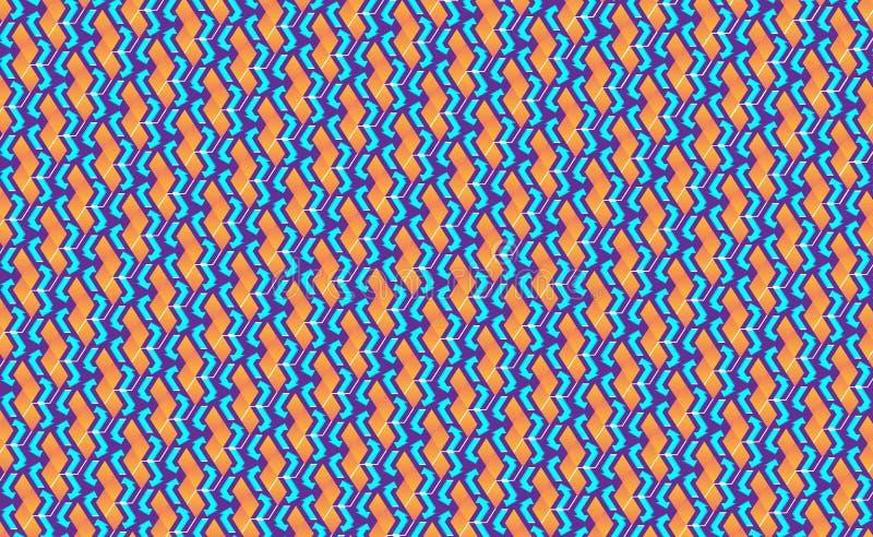 Diseño de lanzamiento isométrico del fondo tales cubos 3d - púrpuras con la flecha o la naranja, dirigida al ejemplo variable del imágenes de archivo libres de regalías