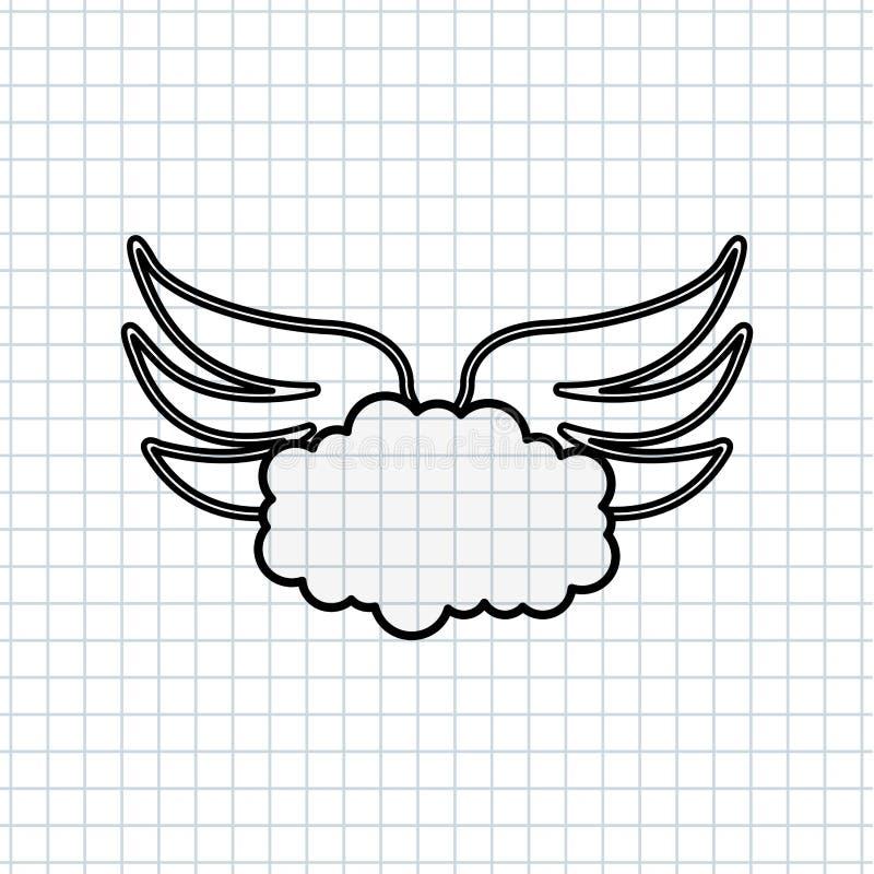 diseño de las alas de los ángeles libre illustration