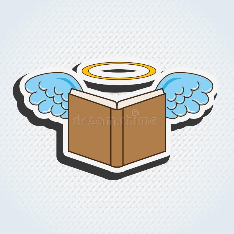 diseño de las alas de los ángeles stock de ilustración