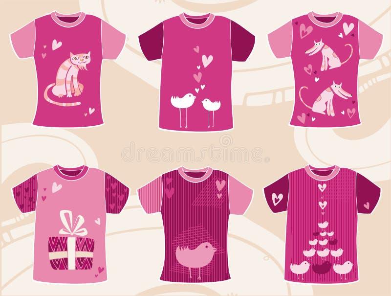 Diseño de las camisetas del día del `s de la tarjeta del día de San Valentín ilustración del vector