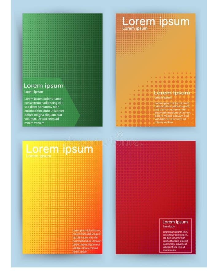 Diseño de las cubiertas Pendientes de semitono geométricas Vector stock de ilustración
