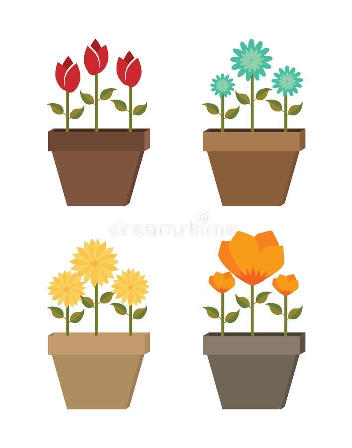 Diseño de las flores stock de ilustración