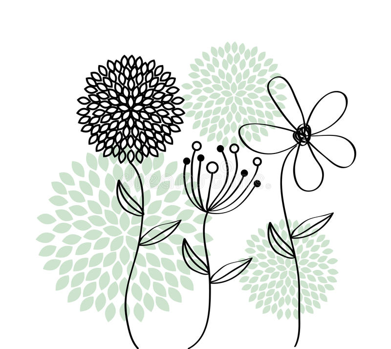 Diseño de las flores libre illustration
