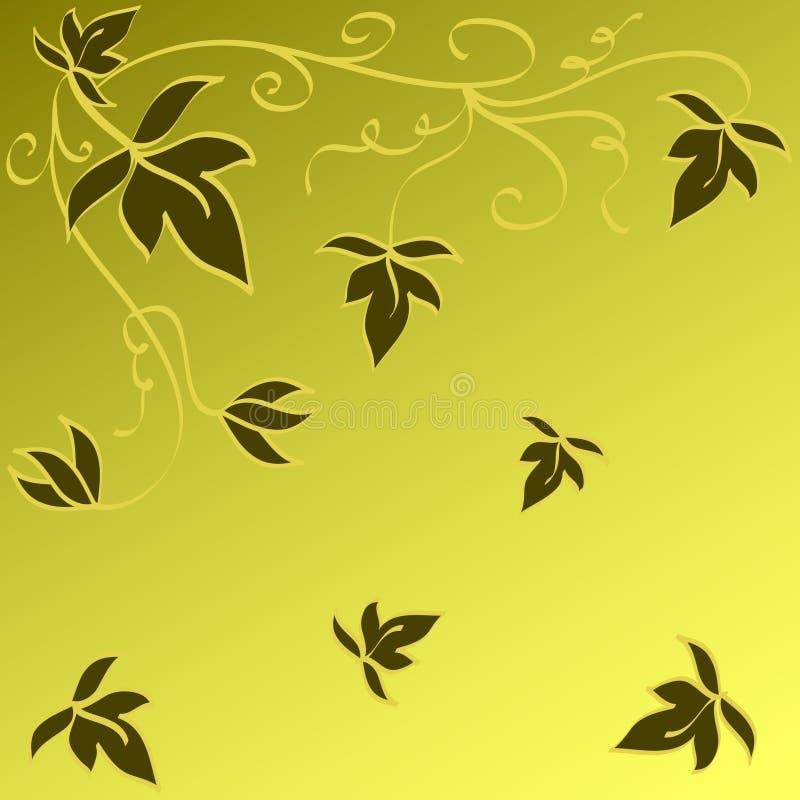 Diseño de las hojas ilustración del vector