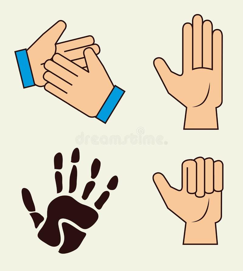 Download Diseño de las manos ilustración del vector. Ilustración de ilustración - 42427888