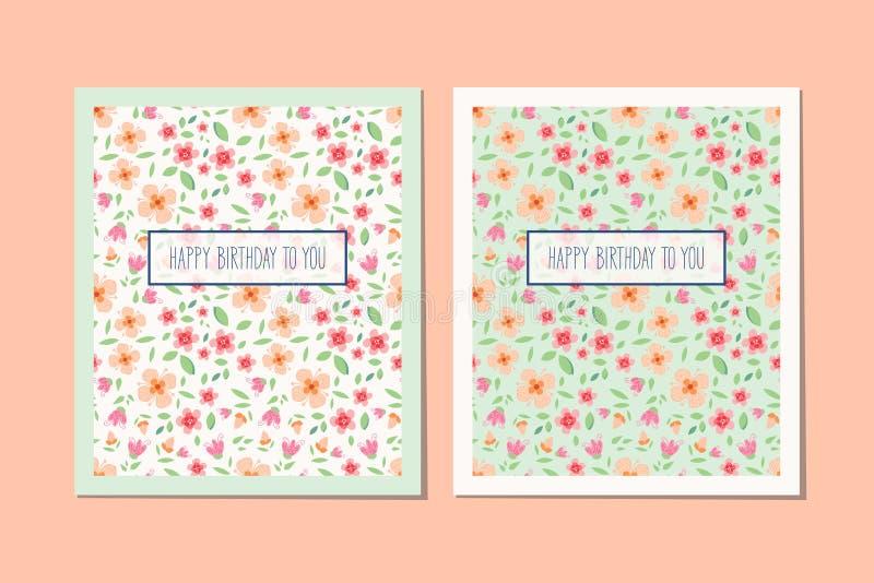 Diseño de las tarjetas de felicitación libre illustration
