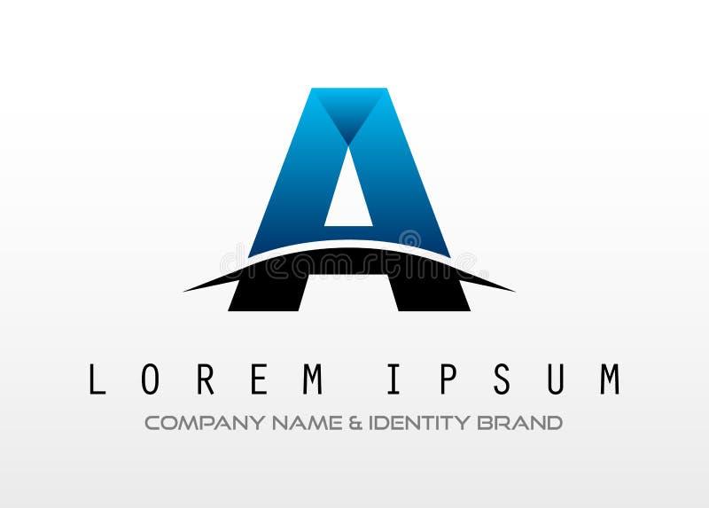 Diseño de letra creativo del logotipo para la identidad de marca, perfil de compañía stock de ilustración