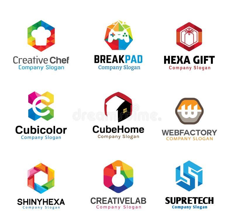 Diseño de letras creativo brillante stock de ilustración