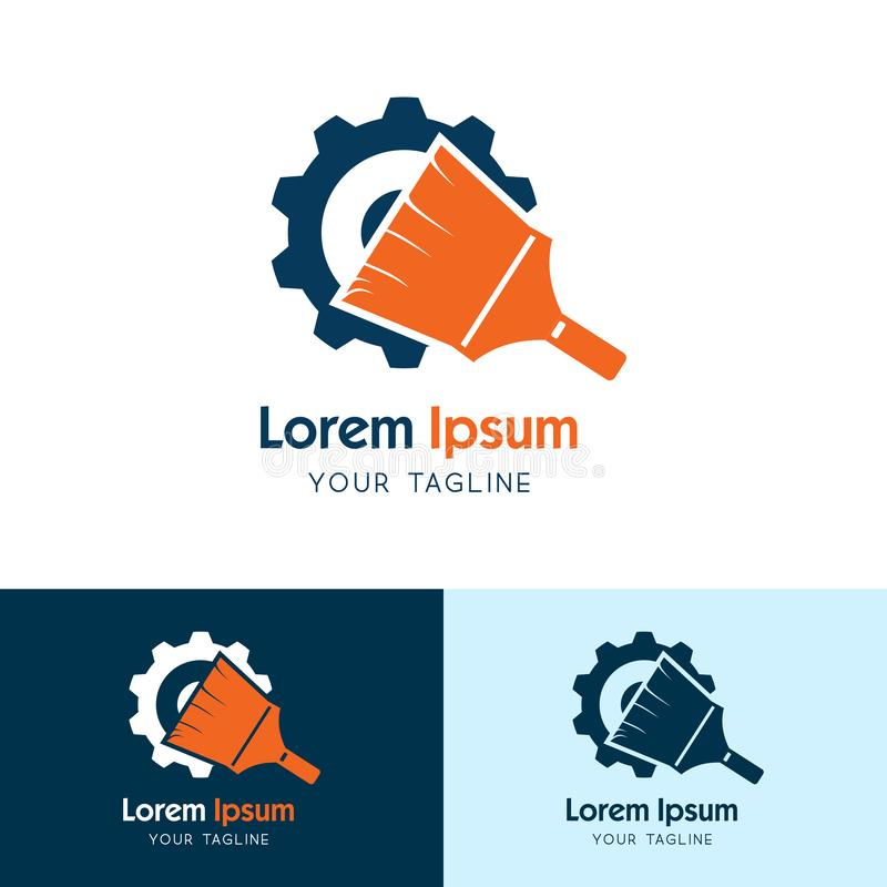 Diseño de Logo Vector del engranaje, energía del ejemplo y vector limpios de la compañía industrial libre illustration