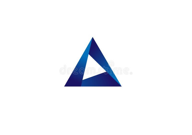 Diseño de logotipo triangular 3d dimensional vectorial stock de ilustración