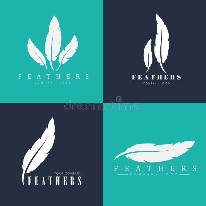 Diseño De Logotipos Con Las Plumas Plantillas Para Los Escritores ...