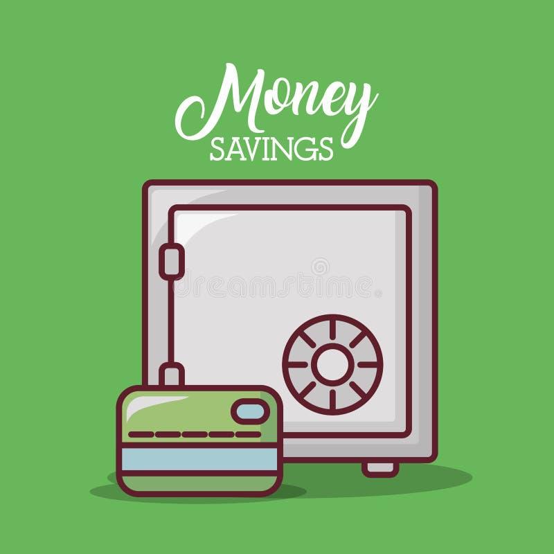 Diseño de los ahorros del dinero libre illustration
