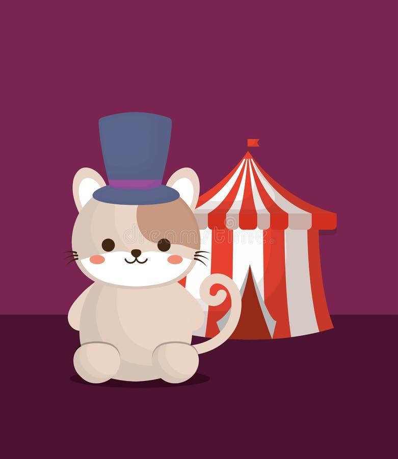 Diseño de los animales de circo stock de ilustración