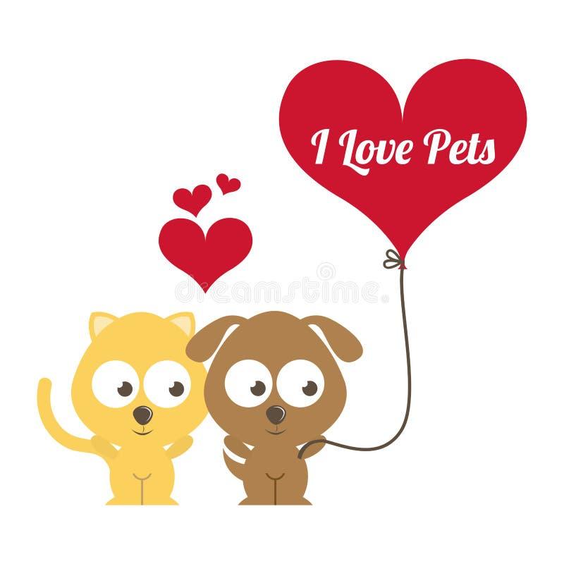 Download Diseño De Los Animales Domésticos Ilustración del Vector - Ilustración de hermoso, romántico: 42427060
