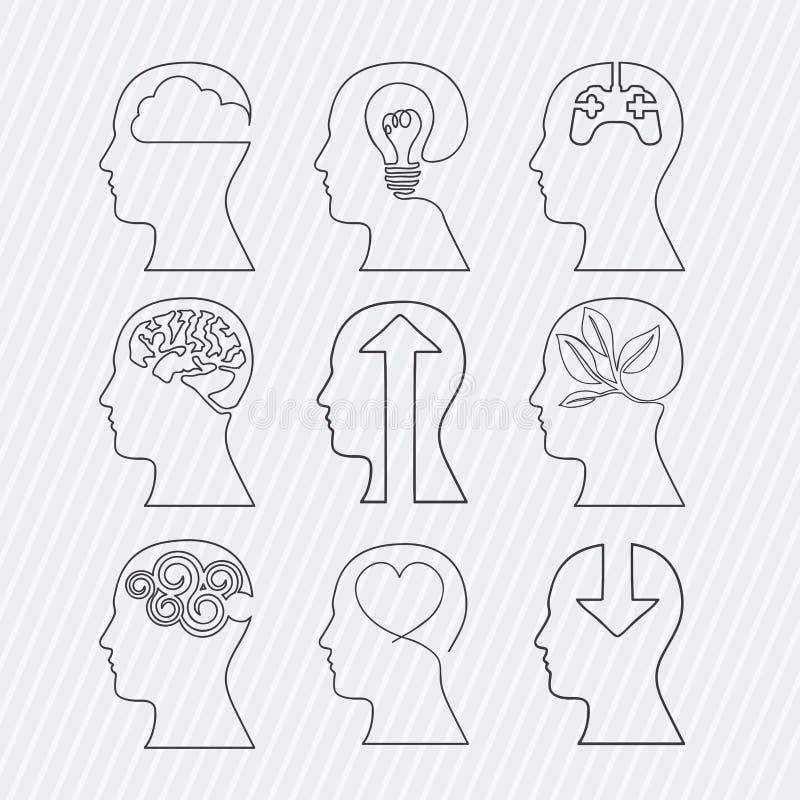 Diseño de los cerebros ilustración del vector