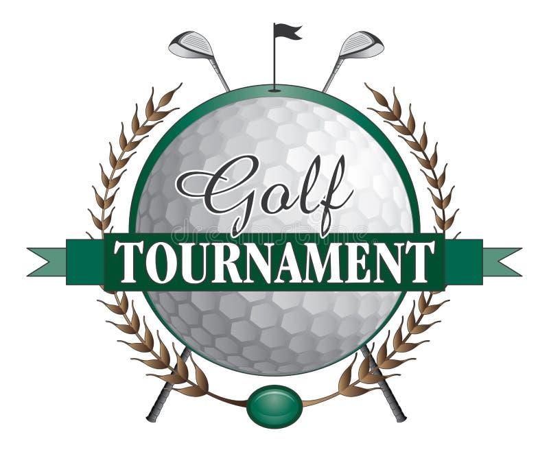 Diseño de los clubs del torneo del golf stock de ilustración