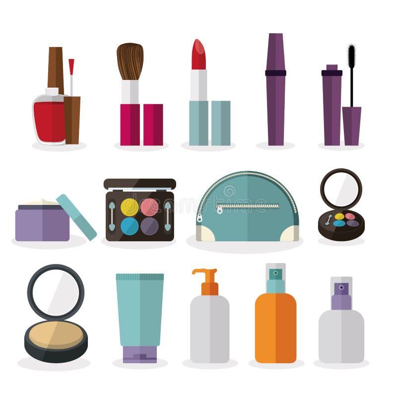 Diseño de los cosméticos stock de ilustración