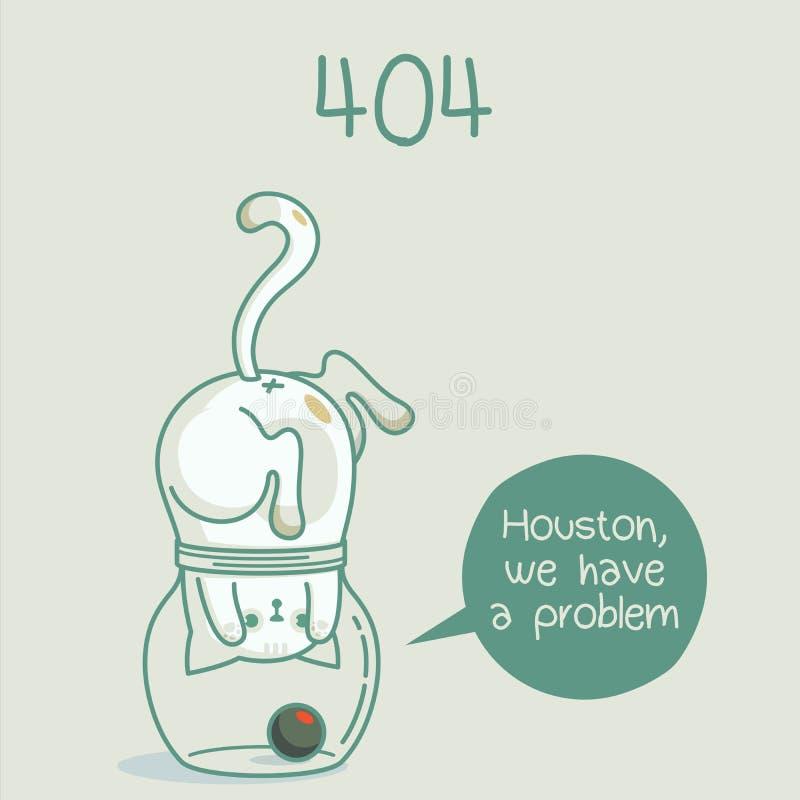 404 diseño de los gatos del trasero fotografía de archivo