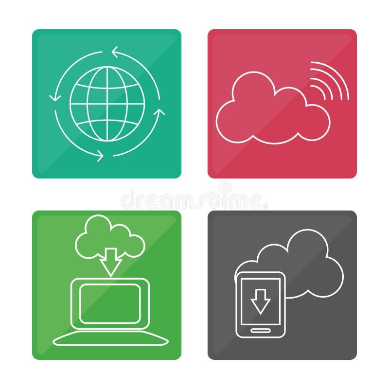 Download Diseño De Los Iconos De La Comunicación Global Ilustración del Vector - Ilustración de nube, hospitalidad: 64200615