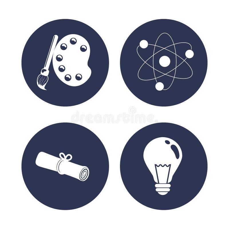 Download Diseño De Los Iconos De La Educación Ilustración del Vector - Ilustración de literatura, expresión: 64200233