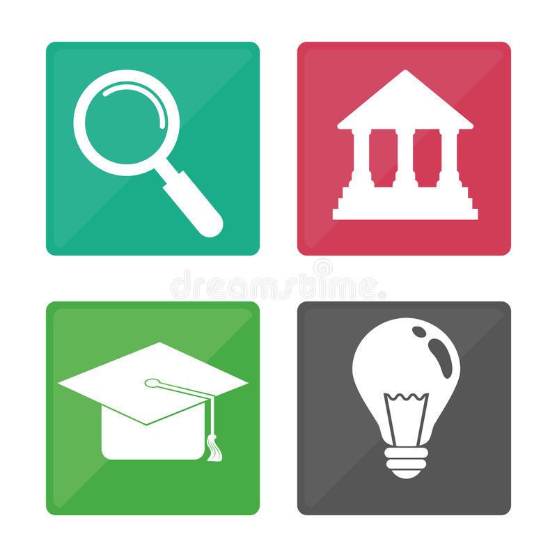 Download Diseño De Los Iconos De La Educación Ilustración del Vector - Ilustración de estudiante, fresco: 64200440