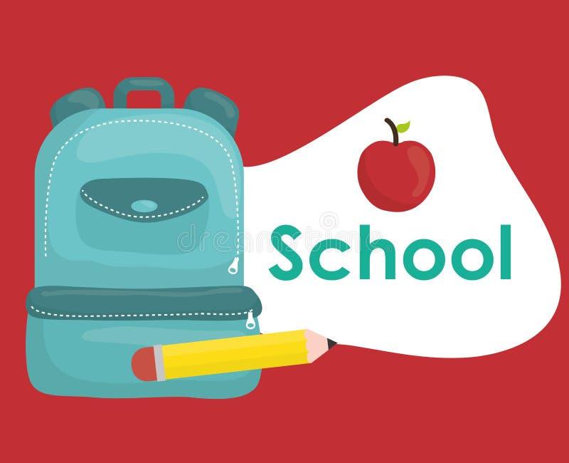 Download Diseño De Los Iconos De La Educación Ilustración del Vector - Ilustración de bolso, interacting: 64200847