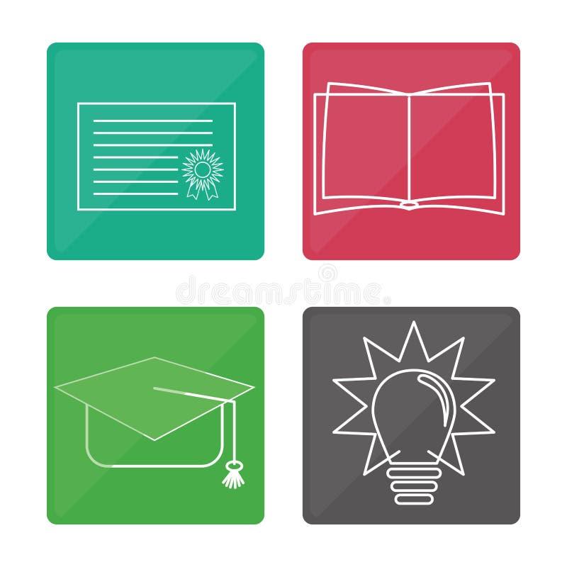Download Diseño De Los Iconos De La Educación Ilustración del Vector - Ilustración de ilustración, educación: 64200872