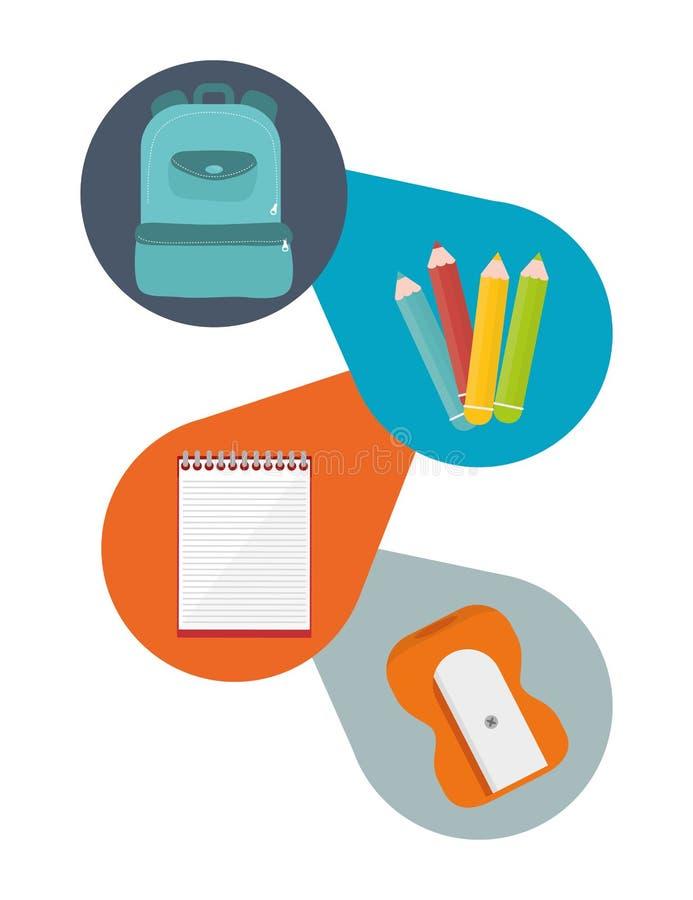 Download Diseño De Los Iconos De La Educación Ilustración del Vector - Ilustración de lápiz, colores: 64200958