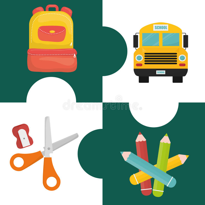 Download Diseño De Los Iconos De La Educación Ilustración del Vector - Ilustración de escuela, literatura: 64200962