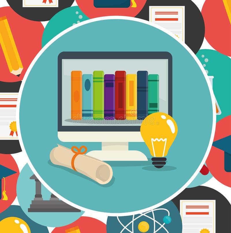 Download Diseño De Los Iconos De La Educación Ilustración del Vector - Ilustración de schoolkid, interacting: 64201004