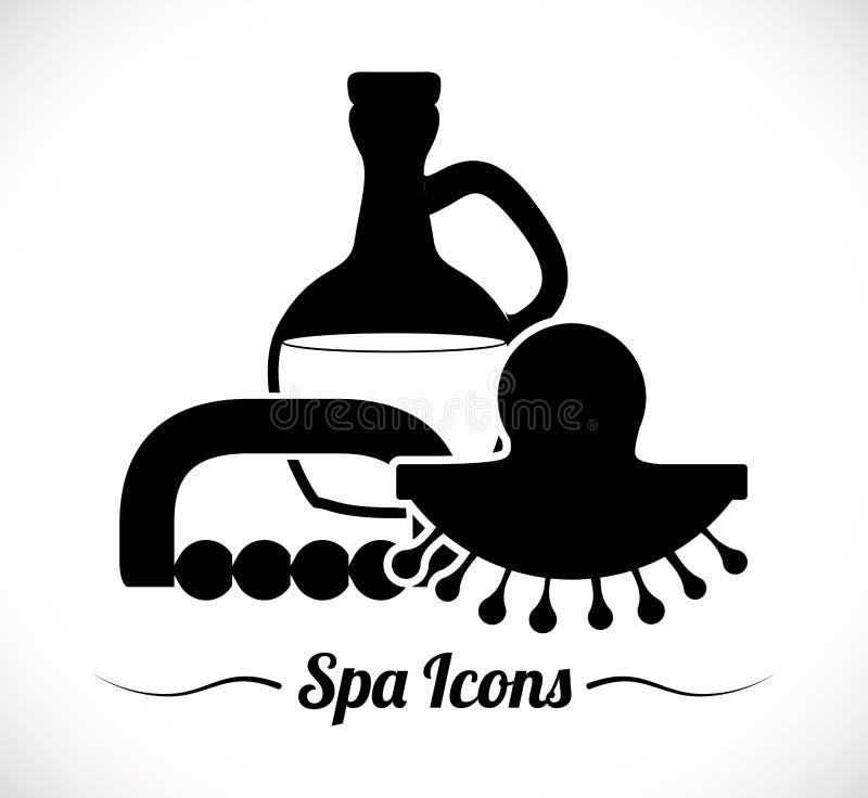 Diseño de los iconos del balneario stock de ilustración