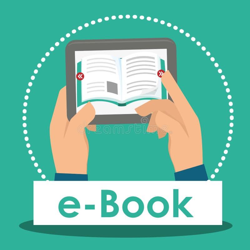 Download Diseño De Los Iconos Del Libro Y Del Aprendizaje Electrónico Ilustración del Vector - Ilustración de reader, mano: 64200212