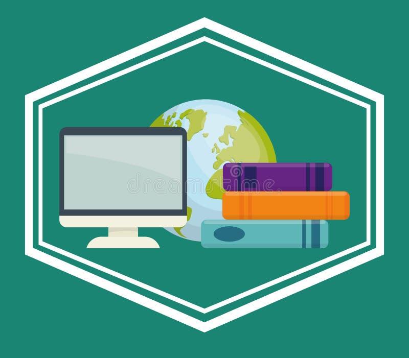 Download Diseño De Los Iconos Del Libro Y Del Aprendizaje Electrónico Ilustración del Vector - Ilustración de media, objeto: 64200717