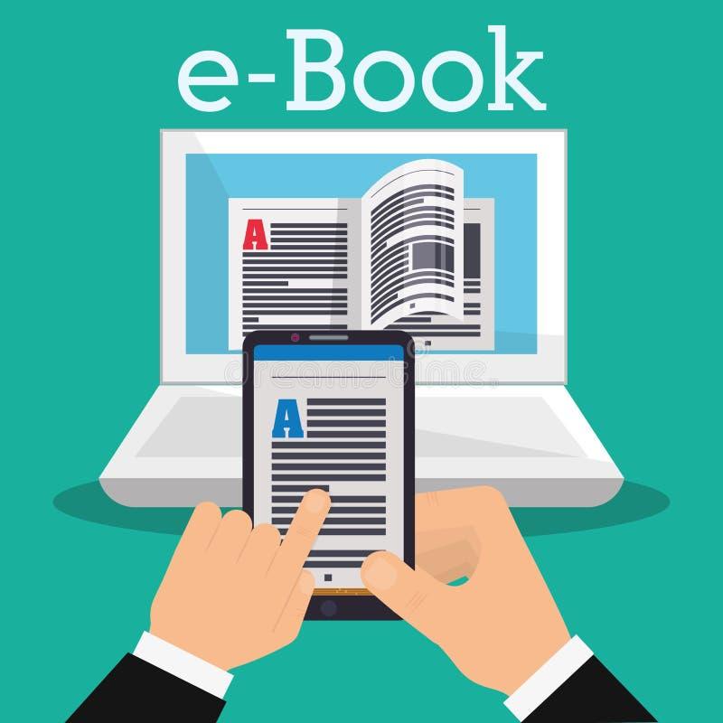 Download Diseño De Los Iconos Del Libro Y Del Aprendizaje Electrónico Ilustración del Vector - Ilustración de studying, dispositivo: 64200936