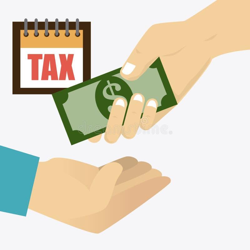 Diseño de los impuestos ilustración del vector