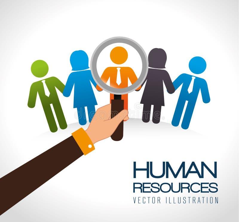 Diseño de los recursos humanos stock de ilustración