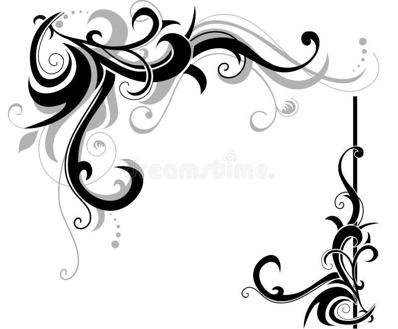 Diseño de los remolinos stock de ilustración