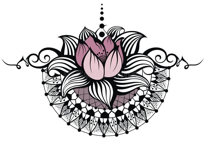 Diseño de Lotus ilustración del vector