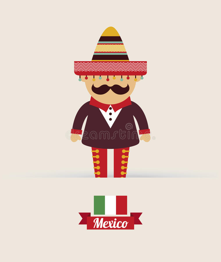 Diseño de México ilustración del vector