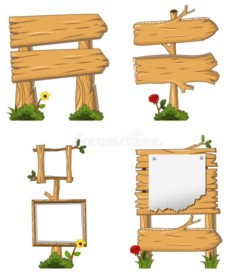 Diseño de madera con la muestra en blanco ilustración del vector