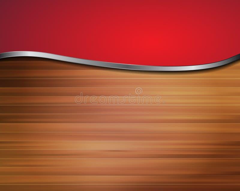 Diseño de madera del fondo abstracto stock de ilustración