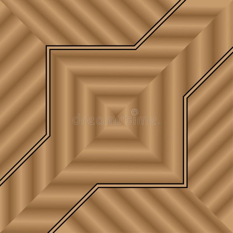 Diseño de madera del fondo para la casa interior del piso o de la pared de la decoración ilustración del vector